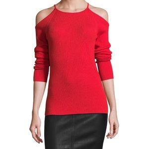 Trina Turk Kawaii Cold Shoulder Wool Sweater